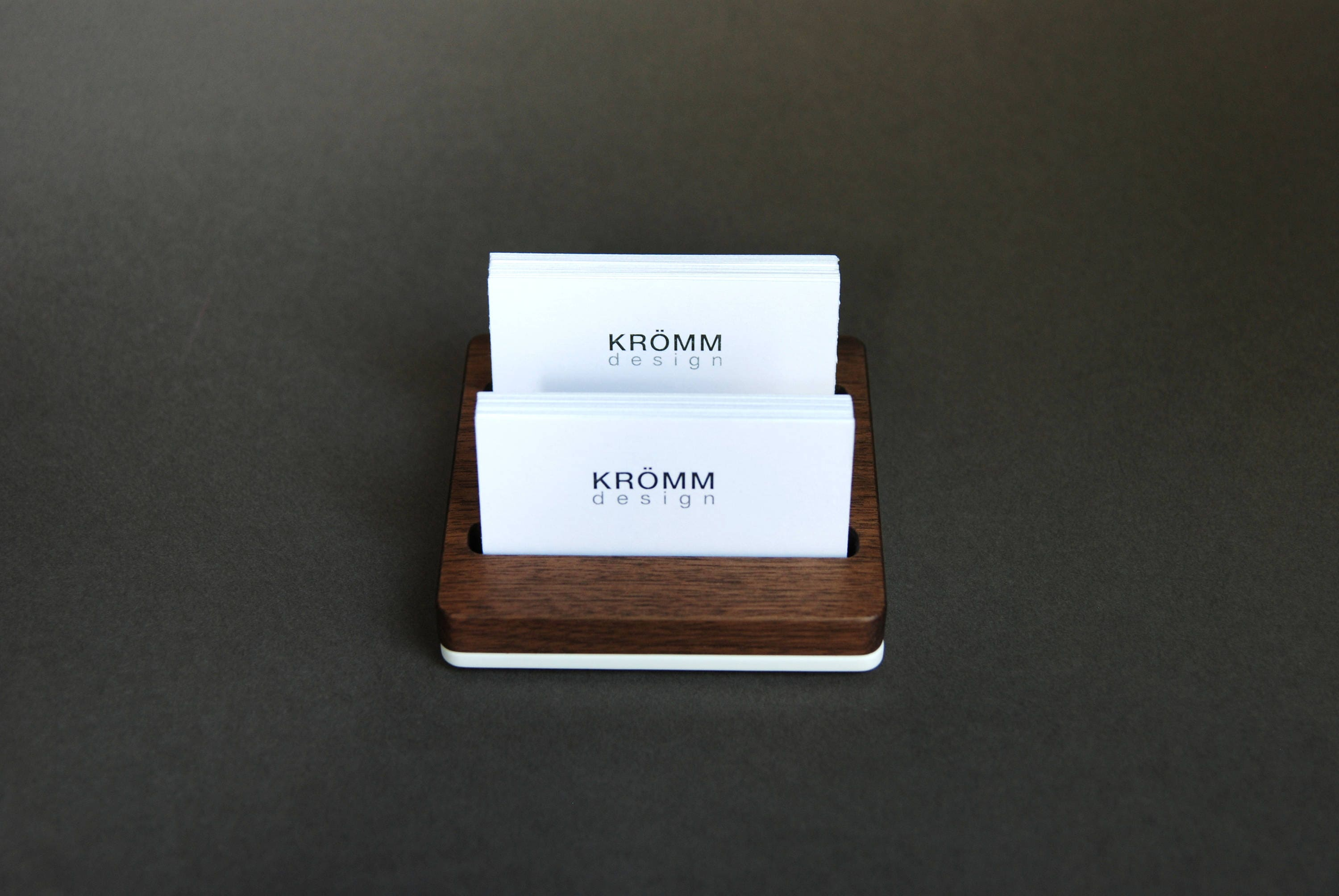 Business Card Holder for Desk / Wood Business Card Stand / Business ...