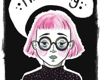 I'll Be Okay - Illustrated Postcard