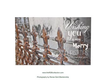 Fleur de Lys Christmas Greeting Cards