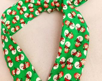 Snowman Cuties Christmas Green Knotted Headband
