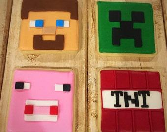 Minecraft Sugar Cookies (15 each design) 60 total