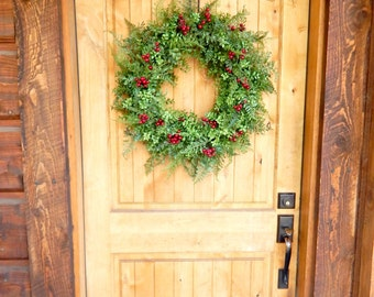 Christmas BOXWOOD Wreath-Winter Door Wreath-Holiday Wreath-Outdoor Wreath-Christmas Wreath-Weatherproof Wreath-Christmas Home Decor-Gifts
