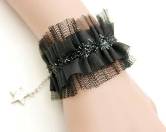 Lace Bracelet, lace jewelry, Lace Wrist Cuff bracelet, lolita bracelet, gothic bracelet