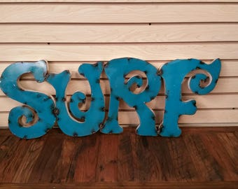 Surf Signs,ocean signs,beach signs,gifts for surfers, metal beach decor, beach decor, ocean decor,  rustic beach decor. Surf signs.
