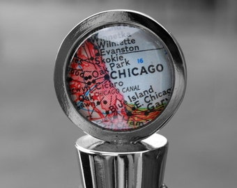 Chicago Map Wine Bottle Stopper - Perfect Hostess Gift