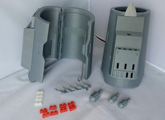 Death Watch (Pre Vizsla) Mandalorian Gauntlet 3D Printed Kit Mark 4 Hinged Model GWMWbUc