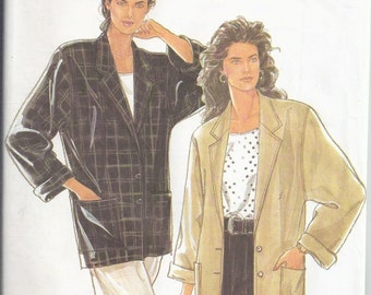 Simplicity 9827 from 1990 Sewing Pattern for Women: Misses Unlined Jacket  Bust 32 1/2-38