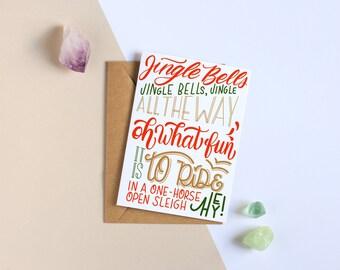 Jingle Bells - Holiday Greeting Card