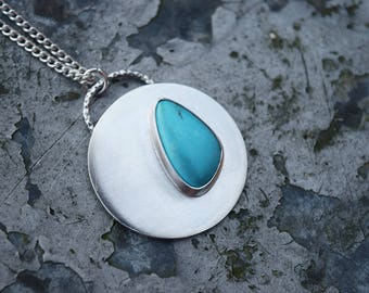 Sleeping Beauty Turquoise Necklace // Sterling Silver