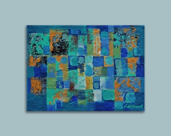 Painting Green, Blue Abstract Painting Modern Painting Original Painting