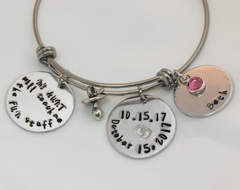 New Aunt Gift, New Aunt, Bracelet Personalized, Bracelet With Name, Bracelet Name, New Baby, Bracelet Charms, Birthstone Gifts