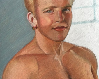 Male Color Pencil Illustration