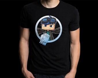Awesome Gildan Tshirt DanTDM Minecraft, Custom Minecraft, The Diamond Minecraft Shirt, Minecrsft Creeper Tshirt, Youtube Fans Tee