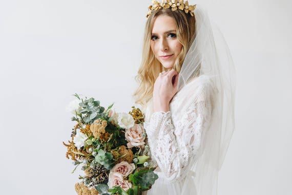 Elbow Length Veil, Wedding Veil, Bridal Veil, Two Tier Veil, Blusher Veil, Two Tier Bridal Veil, Waist Length Veil, Elbow Length Veil HANNAH