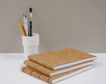 Noode A5 Landscape Faux Vegan Cork Leather Notebook