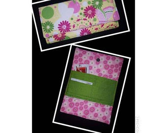 Handmade wallet - yellow with daisies