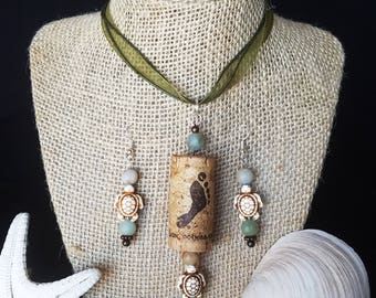 Turtle Doves Necklace & Earring Set