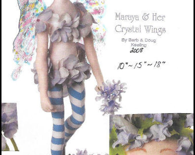KK789E – Maraya & Her Crystal Wings - Cloth Doll Making Sewing Pattern, PDF Download