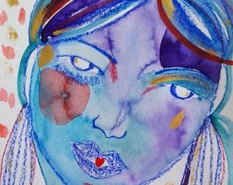 Woman portrait home decor - Portrait fine art - Portrait wall art - Home decor - Original painting - Art