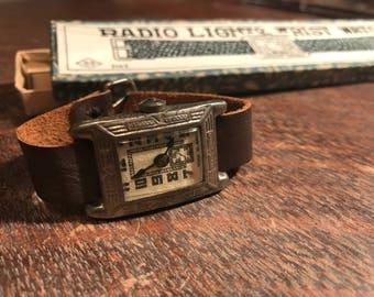 Antique Children's Toy Watch - Radio Lighto Wrist Watch