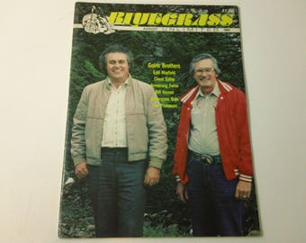 Bluegrass Unlimited Vol. 18, No. 2 (August 1983) - Goins Brothers cover ~ vintage 80s Music Magazine back issue