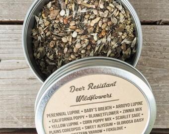 Deer Resistant Wildflower Seeds 1 oz., 4 oz., 8 oz., wildflower seeds, bulk wildflower seeds, wildflower bags, flower seeds, wildflower mix