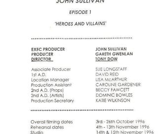 Only Fools & Horses Heroes and Villains TV Script  ( Plus free gift )   Batman and Robin