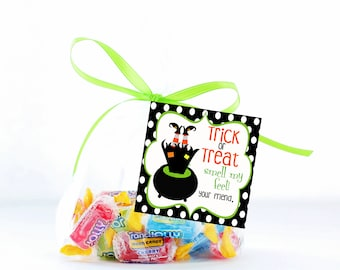 Halloween Treat Tags, Trick or Treat Tags, Smell my Feet Tag, Printable Tags, Halloween Gift Tags, Halloween Favor Tags, Halloween Party