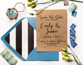 Rustic Brewery Save the Dates | Digital Download | Printable Save the Date | Hops Wedding Save the Date