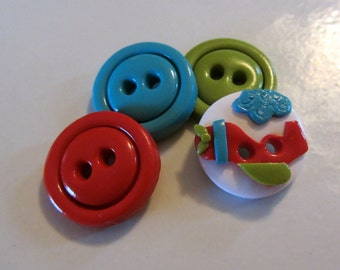 Airplane Button Set - (4)