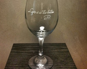 Etched Glass - Love is at the Bottom