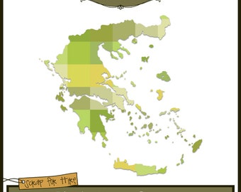 Photo Map Template: Greece