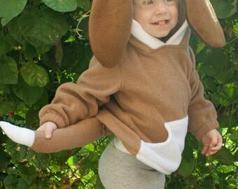 BABY & TODDLER Hound Dog Puppy Hoodie, Costume, Vest, Jacket, Hand-made, Cosplay