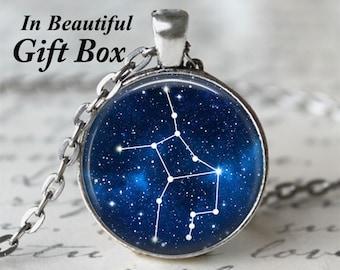 Zodiac Jewelry • Virgo Star Sign • Virgo Necklace • Constellation Necklace • Astrology Jewelry • Birthday Necklace • Virgo Zodiac • Stars
