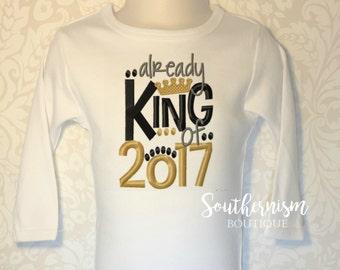 Boys New Year Shirt, New Year Shirt, King New Year, New Years Shirt, Personalized New Year Shirt, boys shirt, babys first new