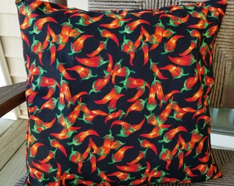 "Decorative Envelope Pillow ""Hot Pepper"""