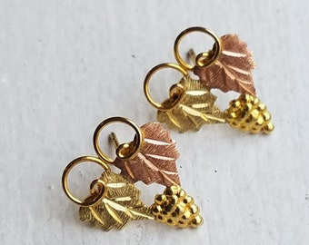 Black Hills Gold Pierced Earrings