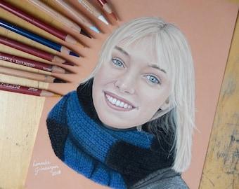 Custom portrait drawing (colour)