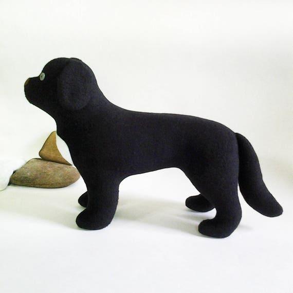 Newfoundland dog pattern stuffed toy dog sewing pattern soft