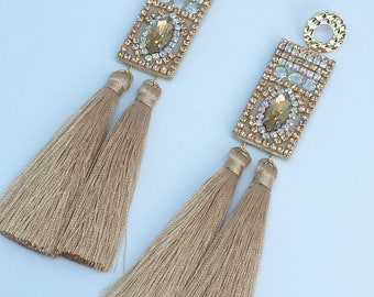Drop earrings - dangle earrings - handmade earrings - statement earrings - bridesmaid earrings -crystal earrings - party earrings - gift