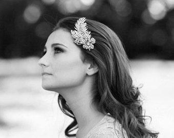 Art Deco Headpiece Bridal Hair Comb Cubic Zirconia Hair Comb  Bridal Headpiece Cocktail Hair Accessories