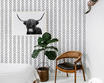 Scandinavian style removable wallpaper available in self adhesive and traditional material