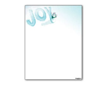 Holiday Stationery - Snowman Joy Holiday Letterhead -8.5 x 11 inches - 80 Paper Sheets - 6501