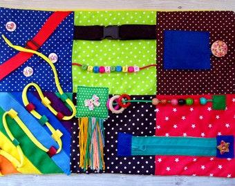 Fidget blanket for dementia blanket Fidget quilt Activity blanket Sensory quilt Montessori materials Special needs Sensory board Memory mat