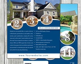 Real Estate Flyer #2 | 2 sided | 8.5x11 | Home Printer & FullBleed Version