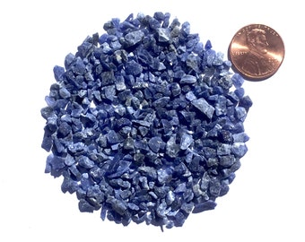Crushed Sodalite Stone Inlay, Coarse, 1/2 Ounce