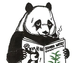 Panda Original Limited Edition Gocco Print