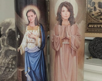 St Gilmore Girls Rory Lorelai Prayer Candles