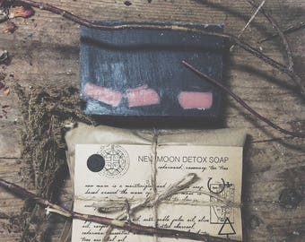 New Moon Herbal Natural Soap Wiccan Ritual soap Small Batch Hand-made in New England Pagan Witchcraft