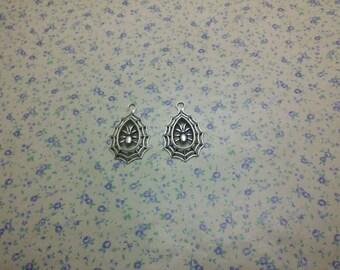20 pcs of antique silver color metal spider spiderweb pendant charm , 35*22mm , MP997